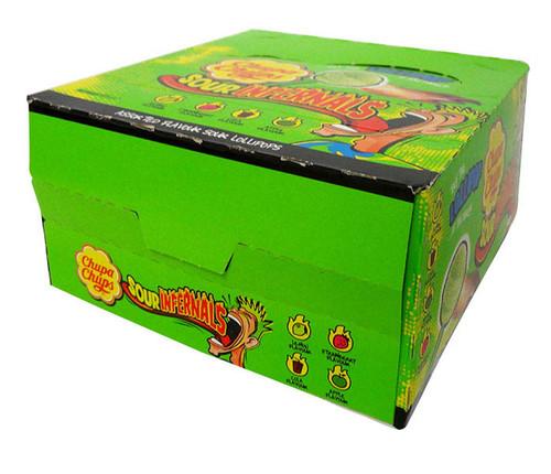 Chupa Chups - Sour Infernals (50 x 9.5g lollipops in a display box)