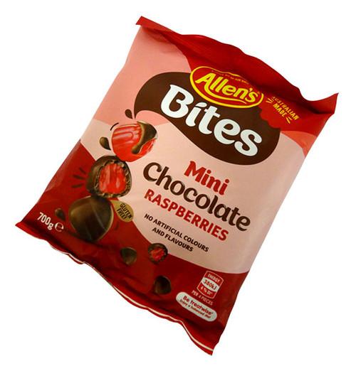 Allens Choc Rasberry bites (700g bag)