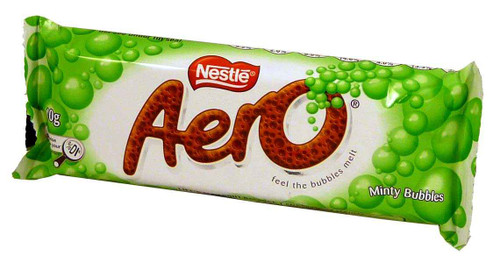 Aero Bar - Minty Bubbles, by Nestle,  and more Confectionery at The Professors Online Lolly Shop. (Image Number :1880)