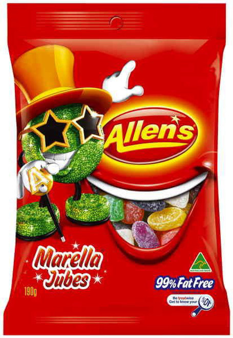 Allens Marella Jubes Saver Pack, by Allens Confectionery,  and more Confectionery at The Professors Online Lolly Shop. (Image Number :6366)