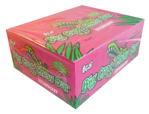BZar Big Croc Chew Bars - Strawberry, by Candy Brokers,  and more Confectionery at The Professors Online Lolly Shop. (Image Number :3660)