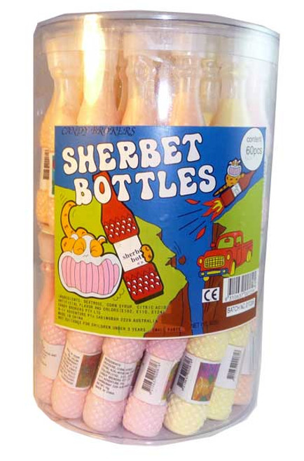 Candy Brokers - Sherbet Bottles, by Candy Brokers,  and more Confectionery at The Professors Online Lolly Shop. (Image Number :2605)