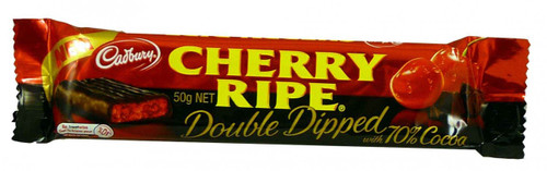 Cherry Ripe Double Dipped, by Cadbury,  and more Confectionery at The Professors Online Lolly Shop. (Image Number :1955)
