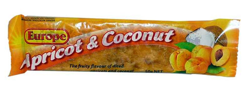 Europe Apricot and Coconut, by Europe/Other,  and more Confectionery at The Professors Online Lolly Shop. (Image Number :1971)