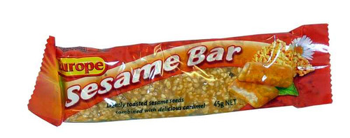 Europe Sesame Bar, by Europe/Other,  and more Confectionery at The Professors Online Lolly Shop. (Image Number :1974)