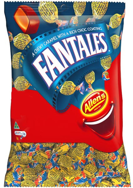 Allens Fantales, by Allens Confectionery,  and more Confectionery at The Professors Online Lolly Shop. (Image Number :6369)