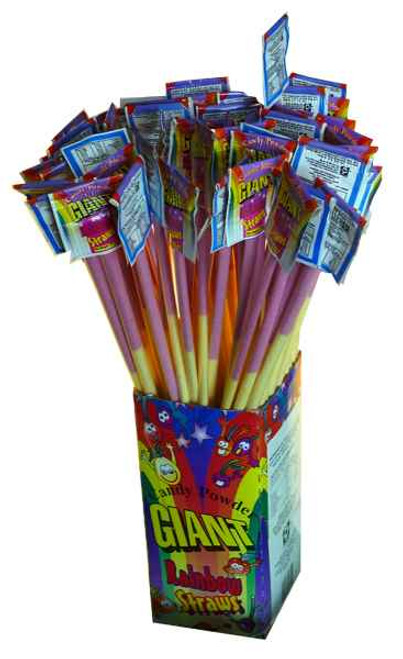 Giant Rainbow Straws, by Universal Candy,  and more Confectionery at The Professors Online Lolly Shop. (Image Number :2004)
