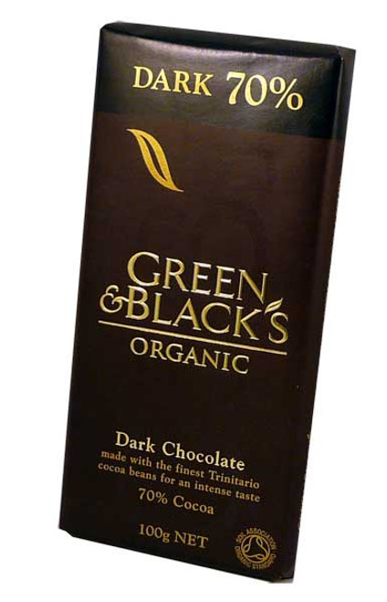 Green and Blacks Organic Dark Chocolate, by Green and Blacks,  and more Confectionery at The Professors Online Lolly Shop. (Image Number :2465)