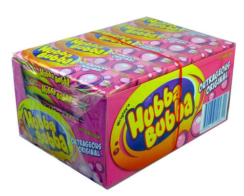 Hubba Bubba Soft Bubble Gum - Outrageous Original, by Wrigley,  and more Confectionery at The Professors Online Lolly Shop. (Image Number :2017)