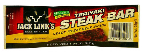 Jack Links Teriyaki Steak Bar, by Jack Links,  and more Snack Foods at The Professors Online Lolly Shop. (Image Number :2028)