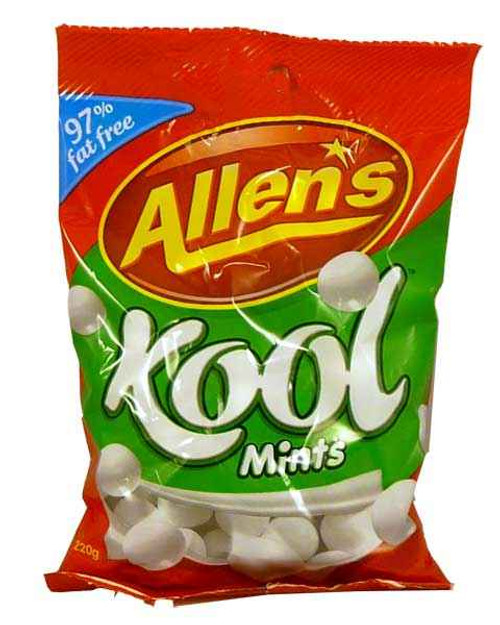 Kool Mints Saver Pack, by Allens Confectionery,  and more Confectionery at The Professors Online Lolly Shop. (Image Number :2042)