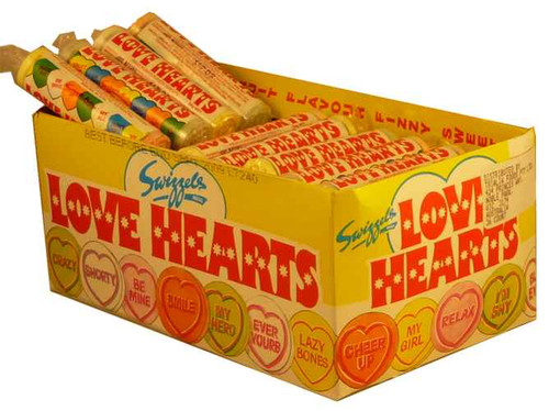 Love Hearts, by Swizzels Matlow,  and more Confectionery at The Professors Online Lolly Shop. (Image Number :2051)