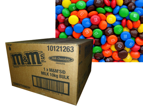 M&M Plain BULK Milk Chocolate, by Mars,  and more Confectionery at The Professors Online Lolly Shop. (Image Number :7152)