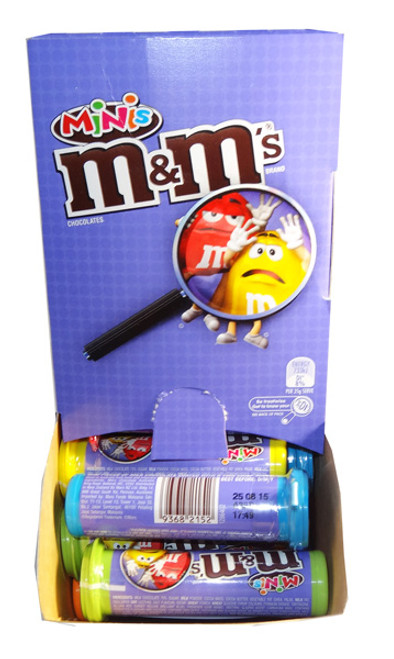 M&M Minis Tubes, by Mars,  and more Confectionery at The Professors Online Lolly Shop. (Image Number :6873)