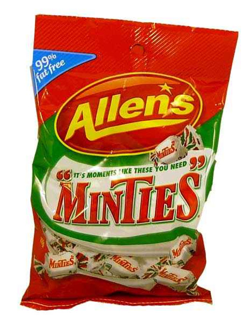 Minties Saver Pack, by Allens Confectionery,  and more Confectionery at The Professors Online Lolly Shop. (Image Number :2078)