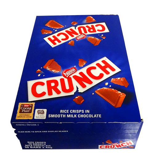 Nestle Crunch, by Nestle,  and more Confectionery at The Professors Online Lolly Shop. (Image Number :10812)