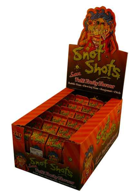 Snot-Shots Tutti-Fruity, by Candy Brokers,  and more Confectionery at The Professors Online Lolly Shop. (Image Number :2132)