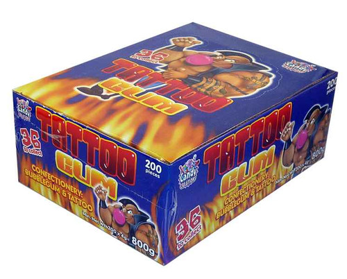 Tattoo Gum, by Other,  and more Confectionery at The Professors Online Lolly Shop. (Image Number :2149)