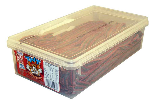 TNT Sour Straps Red Raspberry, by TNT,  and more Confectionery at The Professors Online Lolly Shop. (Image Number :2157)