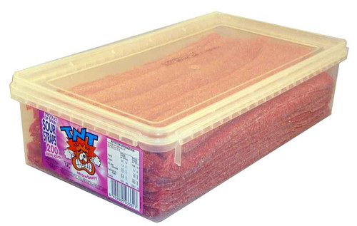 TNT Sour Straps Strawberry, by TNT,  and more Confectionery at The Professors Online Lolly Shop. (Image Number :2159)