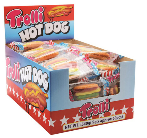 Trolli Hot Dogs, by Trolli,  and more Confectionery at The Professors Online Lolly Shop. (Image Number :7371)