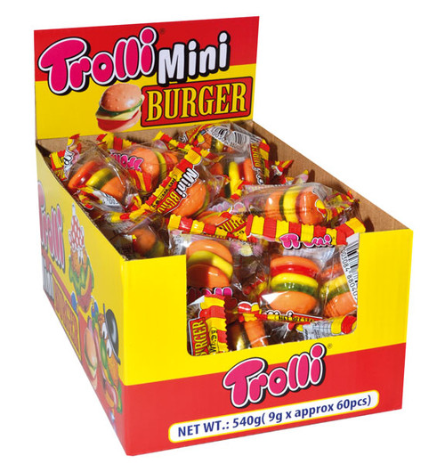 Trolli Mini Burgers, by Trolli,  and more Confectionery at The Professors Online Lolly Shop. (Image Number :7370)