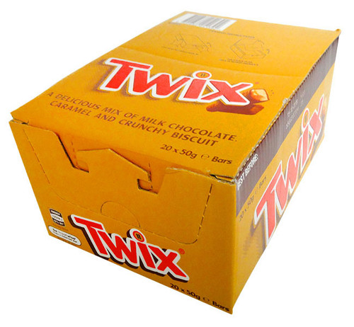 Twix, by Nestle,  and more Confectionery at The Professors Online Lolly Shop. (Image Number :13295)