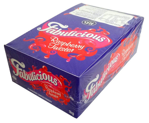 RJs Fabulicious Rasp. Twister, by Wonka,  and more Confectionery at The Professors Online Lolly Shop. (Image Number :13251)