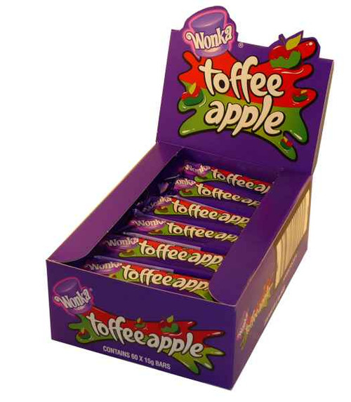 Wonka Toffee Apple Bars, by Wonka,  and more Confectionery at The Professors Online Lolly Shop. (Image Number :2208)