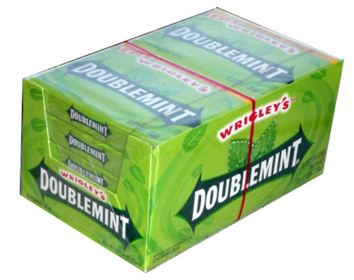 Wrigleys Double Mint, by Wrigley,  and more Confectionery at The Professors Online Lolly Shop. (Image Number :2363)