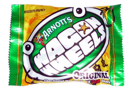 Arnotts Wagon Wheels, by Arnotts,  and more Snack Foods at The Professors Online Lolly Shop. (Image Number :2483)
