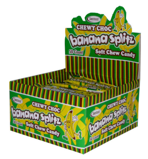 Chewy Choc Banana Splitz, by Sweetmans,  and more Confectionery at The Professors Online Lolly Shop. (Image Number :2497)