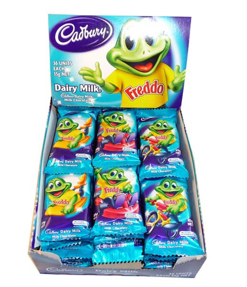 Cadbury Freddo Frog Giant, by Cadbury,  and more Confectionery at The Professors Online Lolly Shop. (Image Number :2599)