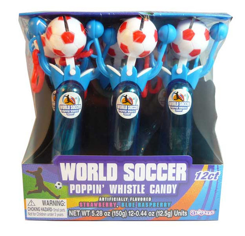 World Soccer Poppin  Whistle Candy, by Other,  and more Confectionery at The Professors Online Lolly Shop. (Image Number :2586)