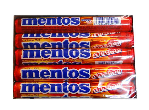 Mentos - Cinnamon, by Perfetti Van Melle,  and more Confectionery at The Professors Online Lolly Shop. (Image Number :10319)