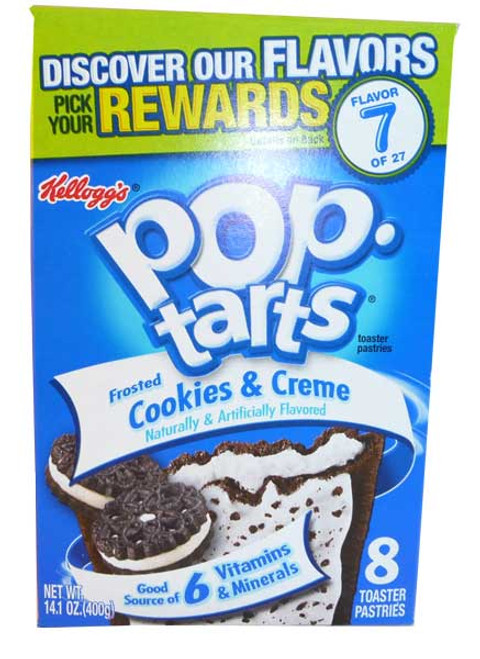 Kelloggs Pop Tarts - Frosted Cookies & Cream, by Kelloggs Pop Tarts,  and more Snack Foods at The Professors Online Lolly Shop. (Image Number :2719)