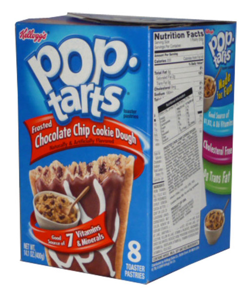 Kelloggs Pop Tarts - Frosted Chocolate Chip Cookie Dough, by Kelloggs Pop Tarts,  and more Snack Foods at The Professors Online Lolly Shop. (Image Number :2761)