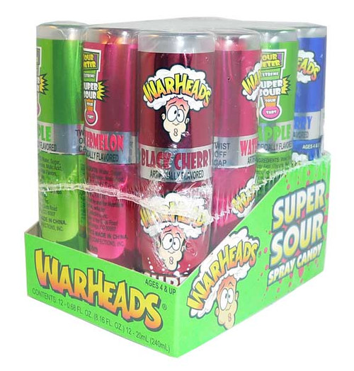 Warheads Super Sour Candy Spray, by Warheads,  and more Confectionery at The Professors Online Lolly Shop. (Image Number :2766)