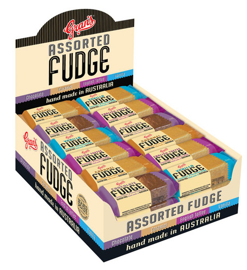 Grans Fudge - Assorted, by Grans,  and more Confectionery at The Professors Online Lolly Shop. (Image Number :10291)