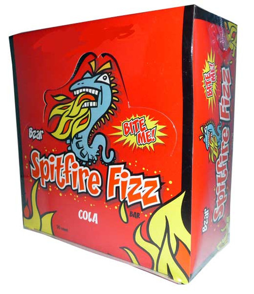 Bzar Spitfire Fizz Bar - Cola, by Candy Brokers,  and more Confectionery at The Professors Online Lolly Shop. (Image Number :2830)