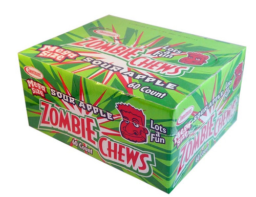 Zombie Chews - Sour Apple, by Sweetmans,  and more Confectionery at The Professors Online Lolly Shop. (Image Number :2888)