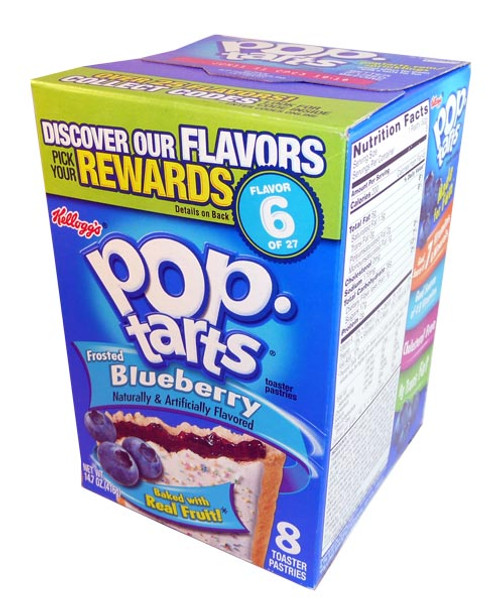 Kelloggs Pop Tarts - Frosted Blueberry, by Kelloggs Pop Tarts,  and more Snack Foods at The Professors Online Lolly Shop. (Image Number :2906)