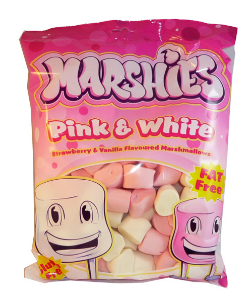 Marshies Pink and White Marshmallows, by Marshies,  and more Confectionery at The Professors Online Lolly Shop. (Image Number :3175)