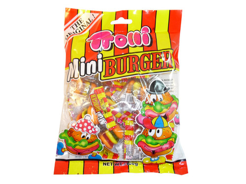 Trolli Mini Burgers, by Trolli,  and more Confectionery at The Professors Online Lolly Shop. (Image Number :3270)