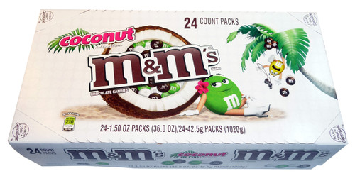 M&M Coconut  - Snack Size, by Mars,  and more Confectionery at The Professors Online Lolly Shop. (Image Number :3367)