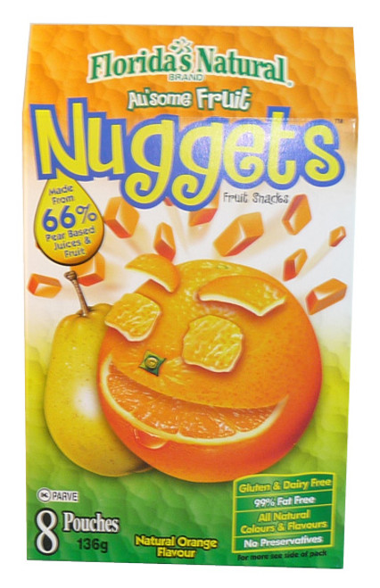 Au some Fruit Nuggets - Natural Orange Flavour, by Candy Brokers,  and more Confectionery at The Professors Online Lolly Shop. (Image Number :3405)