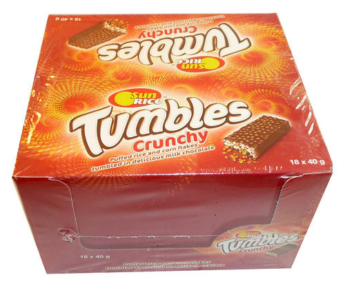 Tumbles - Crunchy, by Sun Rice,  and more Snack Foods at The Professors Online Lolly Shop. (Image Number :3438)