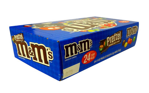 M&M Pretzel  - Snack Size, by Mars,  and more Confectionery at The Professors Online Lolly Shop. (Image Number :10561)