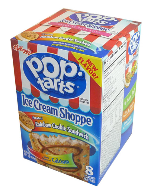Kelloggs Pop Tarts - Rainbow Cookie Sandwich, by Kelloggs Pop Tarts,  and more Confectionery at The Professors Online Lolly Shop. (Image Number :4112)