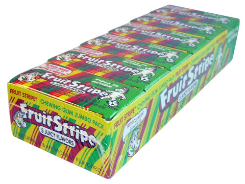 Fruit Stripe Gum, by Farleys and Sathers/Other,  and more Confectionery at The Professors Online Lolly Shop. (Image Number :3958)